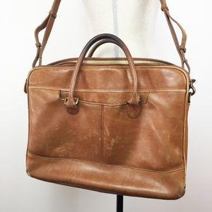 LL Bean Vintage Leather Briefcase Messenger Bag